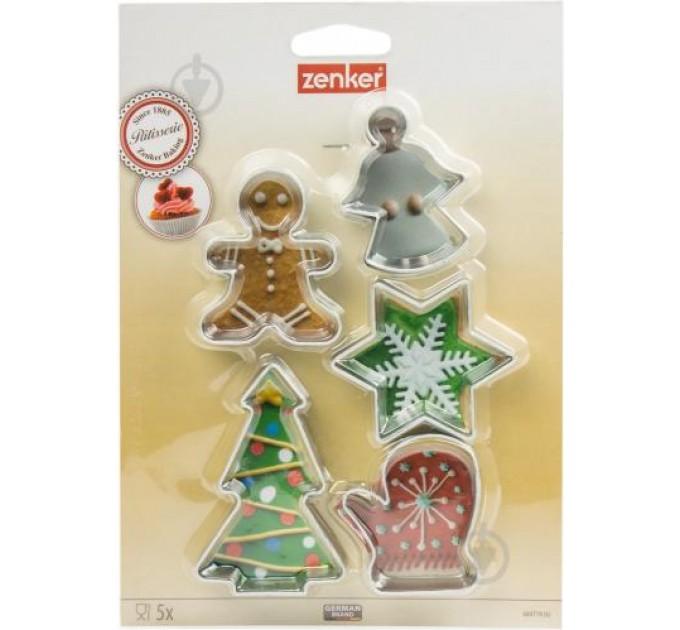 """Формы для вырезания печенья Fackelmann """"рождество"""" 5шт, сталь (684719) - фото № 1"""