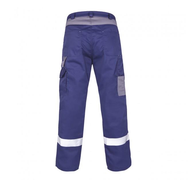 "Брюки рабочие Mover ""Boss"" со светоотражающими полосами, синий (MV-144B) - фото № 2"