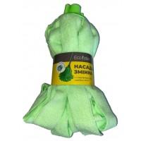 """Насадка для швабры Eco Fabric МОП """"юбочка"""" из полосок микрофибры 160г, зеленый (EF-0160-MG)"""