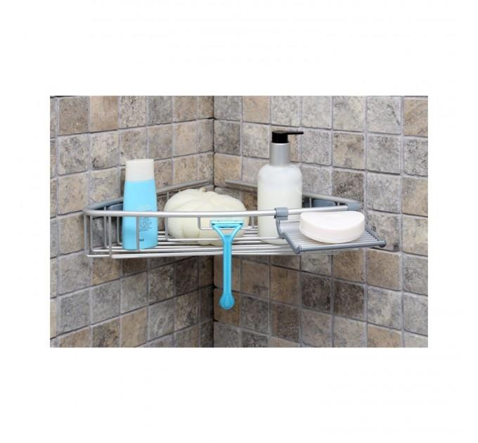 Полка в ванную угловая Prima Nova, алюминиевая (N30-30)