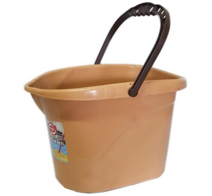 Ведро для уборки без отжима Elif 13л, бежевый (380/0-1) - фото № 1