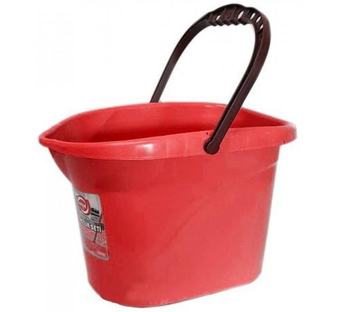 Ведро для уборки без отжима Elif 13л, красный (380/0-3)