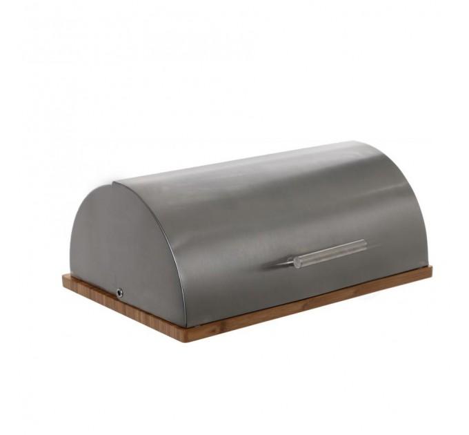 Хлебница Fackelmann 39*28*16.5 см, сталь/бамбук (684338) - фото № 1