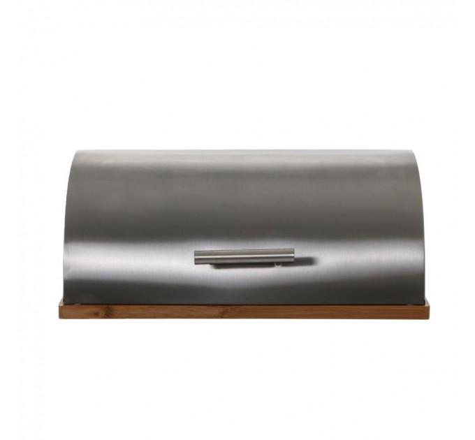 Хлебница Fackelmann 39*28*16.5 см, сталь/бамбук (684338) - фото № 2