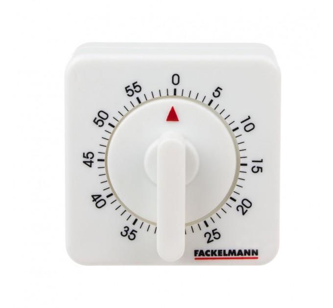 Таймер бытовой Fackelmann на 60 минут, 7*7*5 см, пластик (41921) - фото № 1