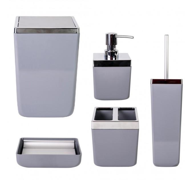 Набор аксессуаров в ванную комнату Prima Nova TOSCANA, серый (SAS01-07) - фото № 1