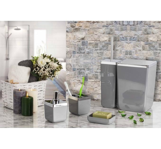 Набор аксессуаров в ванную комнату Prima Nova TOSCANA, серый (SAS01-07) - фото № 2