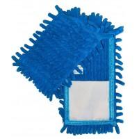 Насадка для швабры Eco Fabric из микрофибры лапша, голубая (EF-1000-B)
