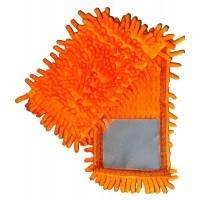 Насадка для швабры Eco Fabric из микрофибры лапша, оранжевая (EF-1000-O)
