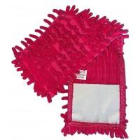 Насадка для швабры Eco Fabric из микрофибры лапша, розовая (EF-1000-P)