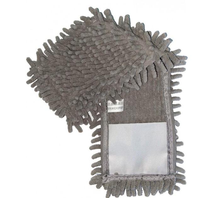 Насадка для швабры Eco Fabric из микрофибры лапша, серая (EF-1000-PR) - фото № 1