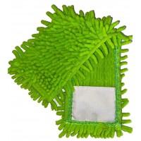 Насадка для швабры Eco Fabric из микрофибры лапша, зеленый (EF-1000-G)