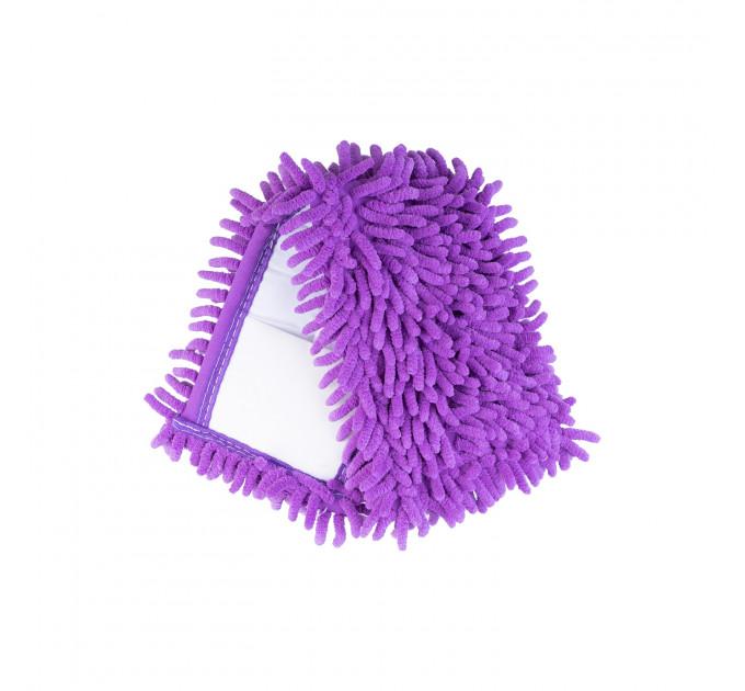 Насадка для швабры Eco Fabric SUPER PROF из микрофибры лапша, фиолетовый (EF-1500-V) - фото № 1