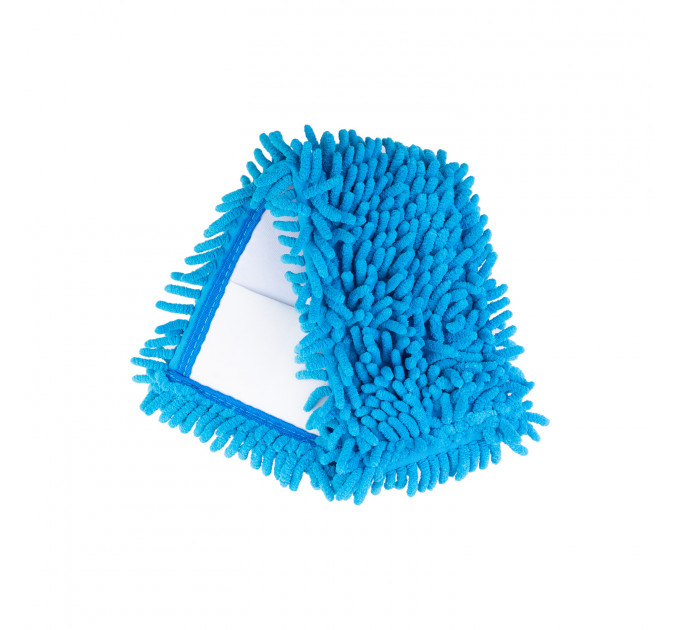 Насадка для швабры Eco Fabric SUPER PROF из микрофибры лапша, синий (EF-1500-B) - фото № 1