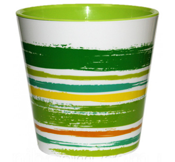 Вазон со вставкой Алеана ДЕКО d13*12.5 с декором, зеленый (114040) - фото № 1