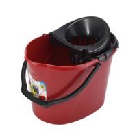 Ведро для уборки с отжимом OZHAVAN PLASTIK 14л, красный (N-53)