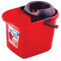 Ведро для уборки с отжимом OZHAVAN PLASTIK 16л, красный (N-52)