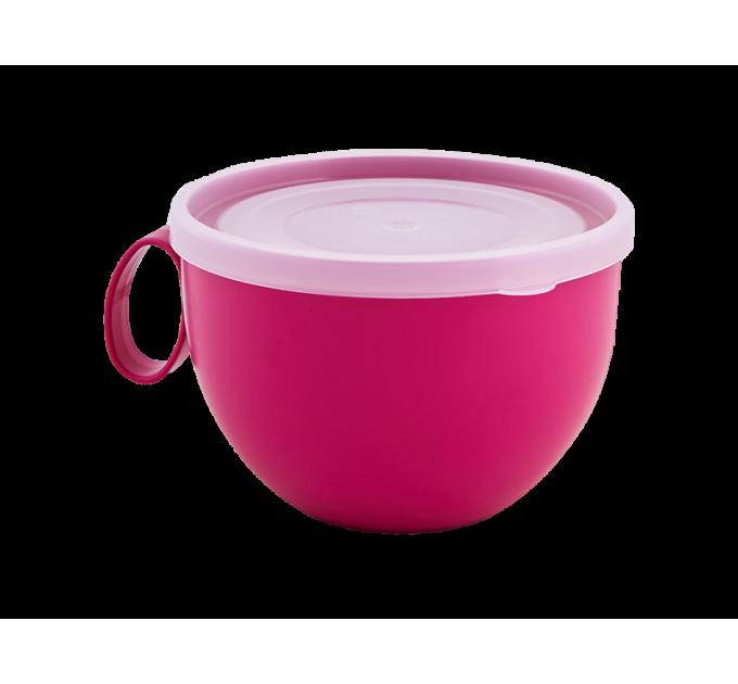 Чашка с крышкой Алеана 0.5л, фрезия/прозрачный (168006) - фото № 1
