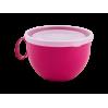 Чашка с крышкой Алеана 0.5л, фрезия/прозрачный (168006)