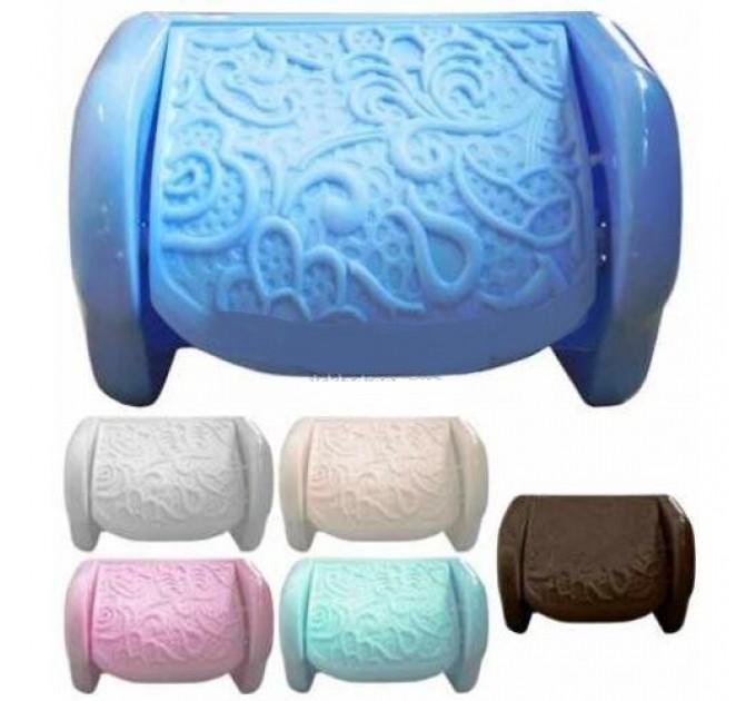 """Держатель для туалетной бумаги Elif """"АЖУР"""", 16,5х11,5х11,5см, голубой (376-7) - фото № 1"""