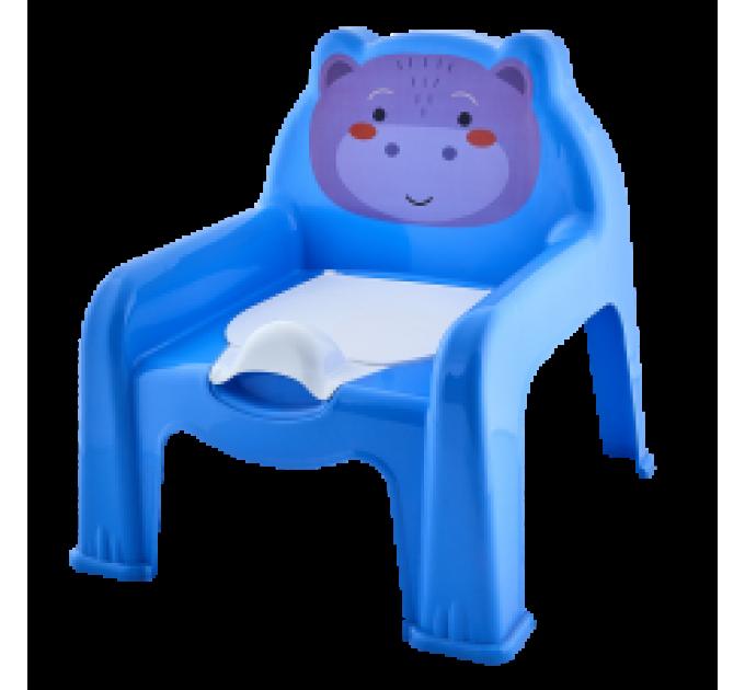 Горшок-стульчик детский Алеана, голубой (124070) - фото № 1
