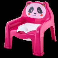Горшок-стульчик детский Алеана, темно розовый (124070)