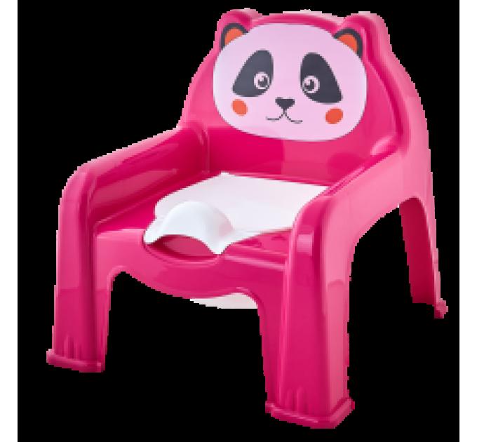 Горшок-стульчик детский Алеана, темно розовый (124070) - фото № 1