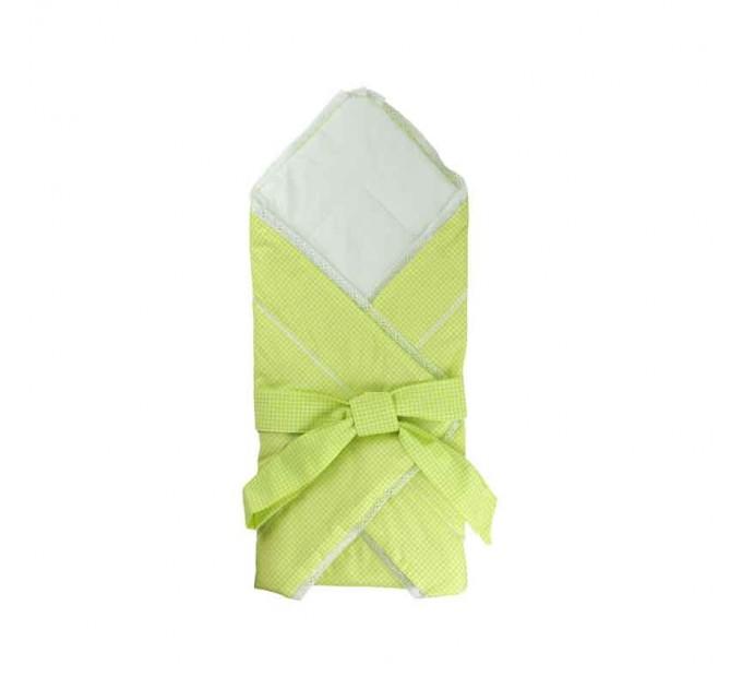 Одеяло-конверт для новорожденных РУНО, салатовый - фото № 1