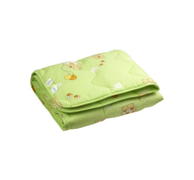 Одеяло детское РУНО 140х105, шерстяное, салатовый - фото № 1