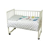 """Комплект постельного белья в детскую кроватку РУНО 60х120 """"Саt"""" сатин, серый"""