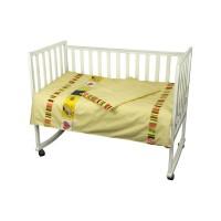"""Комплект постельного белья в детскую кроватку РУНО 60х120 """"Лето"""", бязь, желтый"""