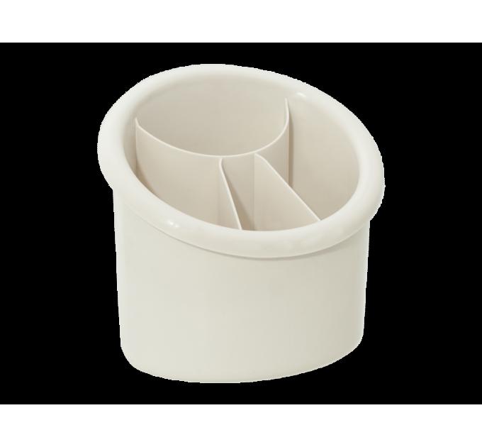 Подставка для столовых приборов Алеана овальная, белая роза (167094) - фото № 1