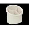 Подставка для столовых приборов Алеана овальная, белая роза (167094)