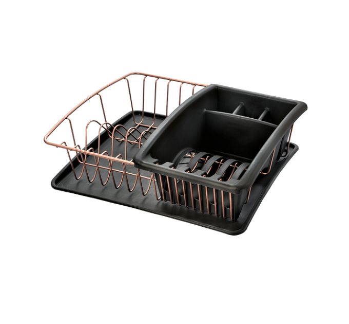 Сушилка для посуды и столовых приборов COPPER Metaltex 35*30*12см (325826) - фото № 1