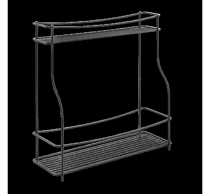 Полка кухонная 2-х секционная BALSAMICO LAVA Metaltex (360852) - фото № 1