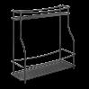 Полка кухонная 2-х секционная BALSAMICO LAVA Metaltex (360852)