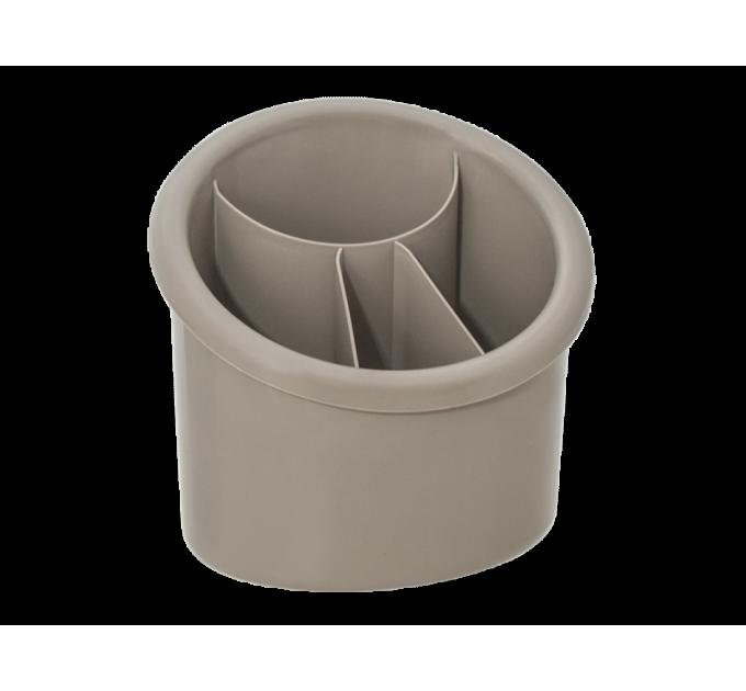 Подставка для столовых приборов Алеана овальная, какао (167094) - фото № 1