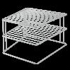 Полка угловая 25*25*19см PALIO METALTEX, серый металлик (364002)