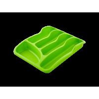 Лоток для столовых приборов Алеана, оливковый (167095)