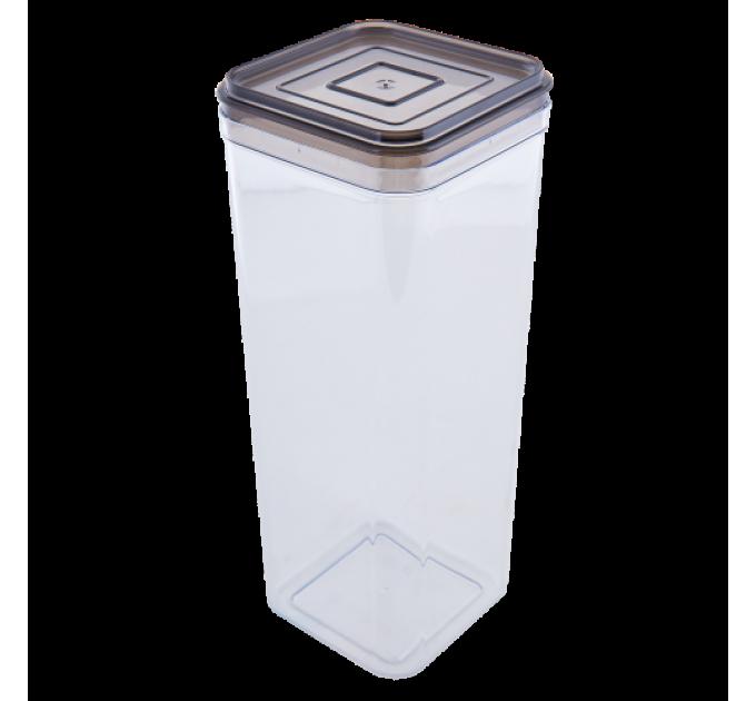 Емкость для сыпучих продуктов Алеана 2.25л, прозрачный/коричнево прозрачный (168026) - фото № 1
