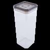 Емкость для сыпучих продуктов Алеана 2.25л, прозрачный/коричнево прозрачный (168026)