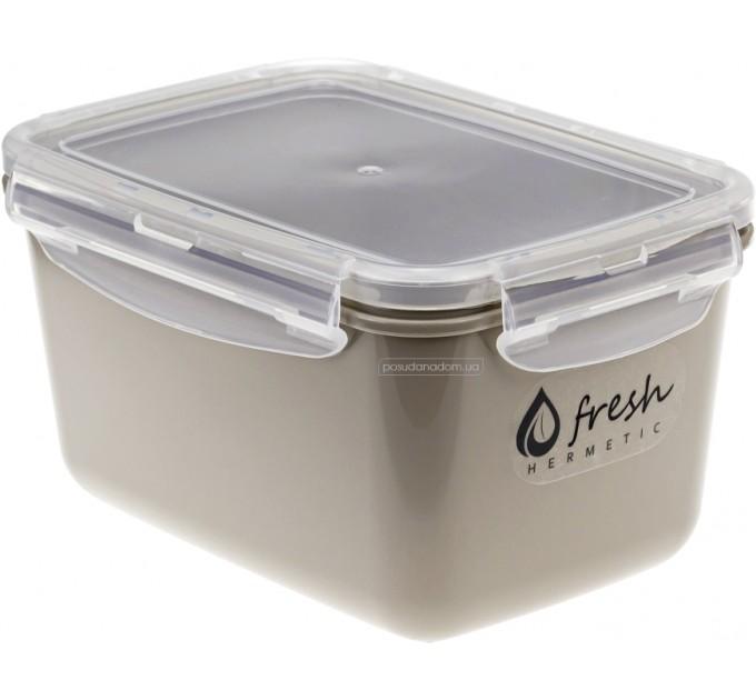 Емкость для хранения продуктов 0.8л ФРЕШ IDEA, капучино (М1422К) - фото № 1