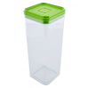 Емкость для сыпучих продуктов Алеана 2.25л, прозрачный/оливковый PS (168026)