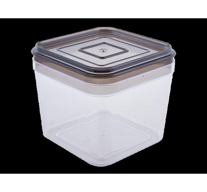 Емкость для сыпучих продуктов Алеана 0.6л, прозрачный/коричнево прозрачный (168024) - фото № 1