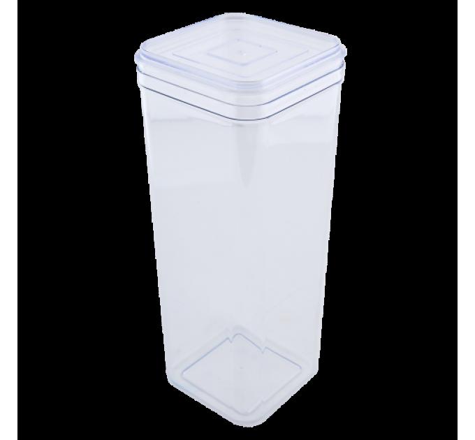 Емкость для сыпучих продуктов Алеана 2.25л, прозрачный/прозрачный PS (168026) - фото № 1