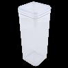 Емкость для сыпучих продуктов Алеана 2.25л, прозрачный/прозрачный PS (168026)