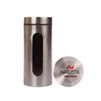 Емкость для хранения Fackelmann 1200 мл, сталь/стекло (42135)