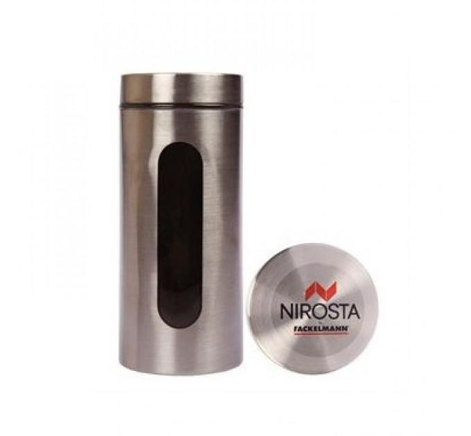 Емкость для хранения Fackelmann 1200 мл, сталь/стекло (42135) - фото № 1