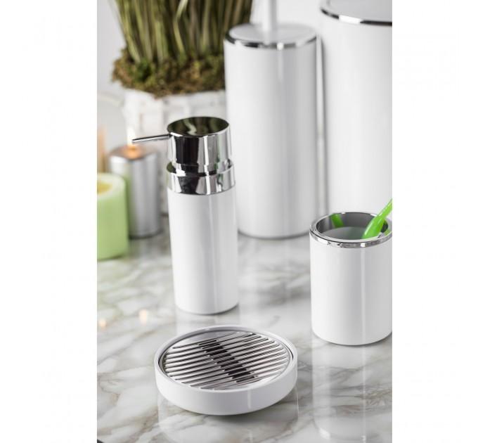 Дозатор для жидкого мыла Prima Nova LENOX, белый (E31-01) - фото № 1