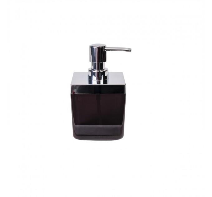 Дозатор для жидкого мыла Prima Nova TOSCANA, прозрачно-черный (SA01-25) - фото № 1